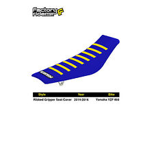 2014-2016 YAMAHA YZF 450 Blue/Yellow RIBBED SEAT COVER BY Enjoy MFG
