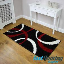 Ribbons Shag Lite Black/Red Rug *0.75 x 1.50* Polypropylen Lounge *RRP £45*