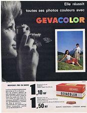 PUBLICITE ADVERTISING 114 1962 GEVACOLOR films photos