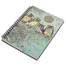 Bug Art - Decorative Colourful Owls A5 Notebook - Foil Finished Hard Cover
