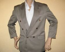 USED ONCE YOUTHS MENS TAUPE BEIGE DOUBLE BREASTED SUIT 38R CHEST 32 WAIST 29 LEG