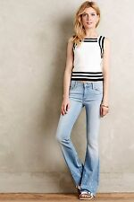 MOTHER JEANS CRUISER FRAY FLARE 27 NWT $196 ANTHROPOLOGIE PRETTY LITTLE WORD