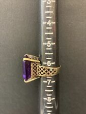 PANETTA EMERALD CUT AMETHYST SIZE 6.5 COCKTAIL RING