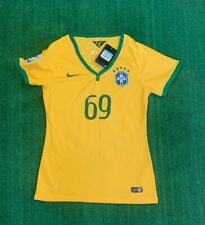 NWT Womens Nike Brazil V Neck Shirt 2014 World Cup Size M #69 Torres