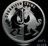2019 Silver Shield ORGANIZED CRIME 1 oz Silver PROOF & COA & BOX! IN STOCK! 1004