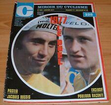 MIROIR CYCLISME 226 1977 MAERTENS MERCKX JACQUES BOSSIS POULIDOR BOULOUX HINAULT