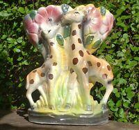 "Vintage Giraffe Planter Luster Ceramic Vase Kitsch 6.5"" Tall Dee Bee, Co Japan."