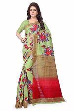 Latest Designer Saree Pista Green and Multi Designer Indian Sari 2196