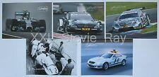 (5) Mercedes Motorsport Racing Cards Photos lot Formula1, DTM, F1,