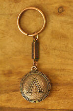 Ancient Greek Themed Keyring Key Chain Spartan Shield 300 Bronze Zamac Closed L