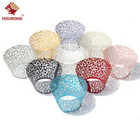 50pcs Classical Lace Cupcake Wrappers Laser Cut Wedding Decorations Wraps