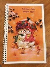 CHRISTMAS CARD ADDRESS BOOK Organizer A-Z Personalized Gift 8 yrs Snowmen 230