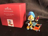 Give a Little Whistle Disney Pinocchio Jiminy Cricket Hallmark Ornament-New