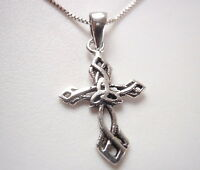 Small Celtic Cross Pendant 925 Sterling Silver Corona Sun Jewelry
