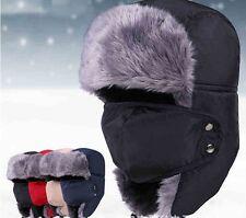 Men Women Hat Ski Hunting Trapper Earflap Thermal Russian Ushanka Fur Winter