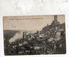C002583   PESCINA    PANORAMA  COL  CASTELLO  E  PRINCIPIO D'INCENDIO  VG   1911