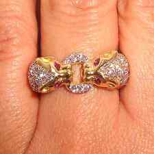 .70ct Diamond & Ruby Solid 14k Y Gold Ring Fine Jewelry.