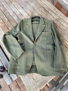 Drake's Olive MkII Games Blazer & Chinos Suit Size 38 RRP $2,600