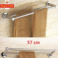 Double Polished Chrome Bathroom Towel Rails Shelf Rail Rack Stainless Steel