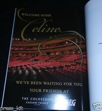 Celine Dion Souvenir Program Return to Las Vegas Show NEW MINT Dress Wardrobe