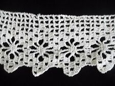 Vintage Crochet Lace White 2 1/4 inch wide 42 inch long CL90