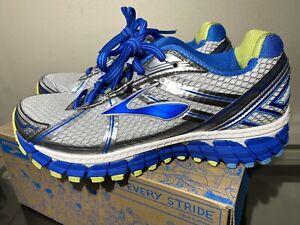 New Brooks Adrenaline GTS 15 Size 8 B Women's Running Shoes White Blue Green