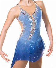 Ice Figure Skating Dress Gymnastics custome Dress Dance Competition blue