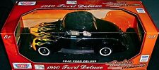 RARE 1940 FORD DELUXE COUPE 1:18 SCALE DIECAST METAL CAR  MOTORMAX NEW