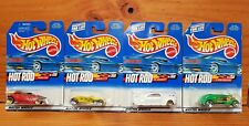 HOT WHEELS 2000 HOT ROD SERIES Set of 4 inc. TAIL DRAGGER, '33 ROADSTER (A+/B-C)