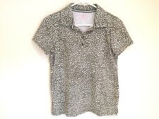 Liz Claiborne Modern Fit Women's M Short Sleeve Blouse Top Size Medium