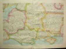 1868 HAND COLOURED MAP DORSET SOMERSET WILTSHIRE HAMPSHIRE BERKSHIRE ISLE WIGHT