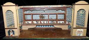Antique c.1900 1:12 GERMAN ROOM BOX Store Toy Pet Kids Dollhouse