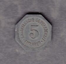 Eisleben - Mansfeldsche Gewerkschaft - Notmünze 5 Pf. 1918 -Zink- (Fu. 303.2.2)