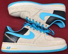 2599e3440 Nike Air Force 1 PRM 07 Low Thompson Tweed Blue Brown Bahamas Born Kid Sz 12