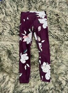 ATHLETA Ultra High Rise Elation Tight S Small Cassis Floral Full Length