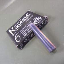 Genuine Kaweco Pearl Black Ink cartridges, pack of 6 Made in Austria