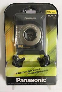 Panasonic Portable Stereo Cassette Player RQ-P35 XBS Extra Bass XBS & Headphones