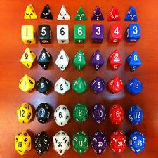 Set of 6 Dice D4 D6 D8 D10 D12 D20 Sides Magic Gathering MTG D&D RPG Poly Game