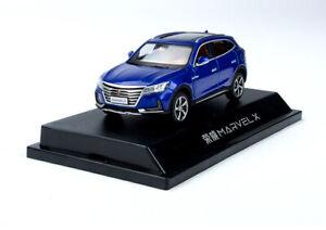 1/43 Roewe MARVEL X diecast model blue color