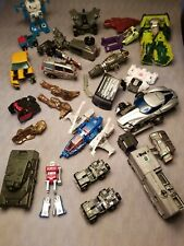 Lot of Transformers G1 and Gobots Vintage 1980s 1990s Toys Parts & Pieces Nice!