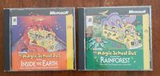 2 The Magic School Bus PC Education games Microsoft INSIDE The EARTH- RAINFOREST