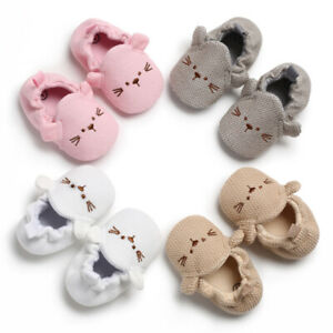 Baby Newborn Boys Girls Cartoon Cozy Cotton Booties Infant Soft Sole Baby Shoes