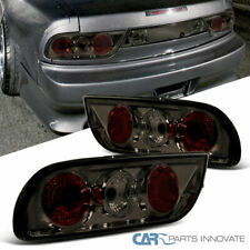 For 89-94 Nissan 240SX S13 Hatchback Smoke Lens Tail Lights Rear Brake Lamps