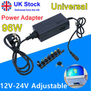 Universal 96W Power Supply Adapter Charger 12-24V for PC Laptop & Notebook AC/DC