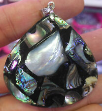 48mm Natural Abalone shell  Drop Pendant bead  L19654