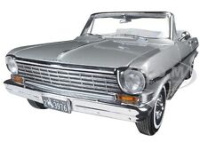 1963 CHEVROLET NOVA OPEN CONVERTIBLE SATIN SILVER 1/18 CAR BY SUNSTAR 3976