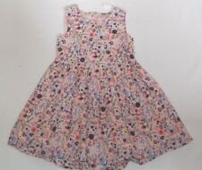 BNWT NEXT 2-3 YEARS PINK FLOWERS 100% COTTON SUMMER PARTY DRESS SLEEVELESS