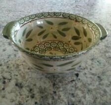 New listing Temptations by Tara Serving Bowl Ovenware 1.5 Quart Green Floral, Old World Euc