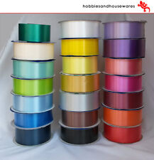 10m FLORIST RIBBON - wedding cars,bows,presents,christmas - 40 colours to choose