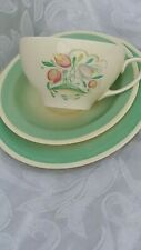 Susie cooper dresden spray Cup Saucer and Side plate old and crazing lines